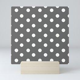 Grey Pastel Polka Dots Mini Art Print