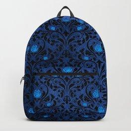 Blue Rose Pattern Backpack