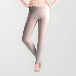 Blush Pink on Gray and White Marble II Leggings