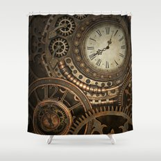 Steampunk Clockwork Shower Curtain