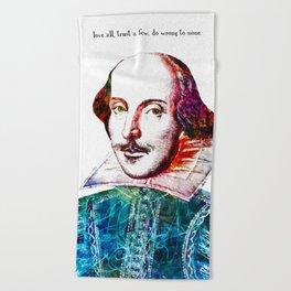 Graffitied Shakespeare Beach Towel