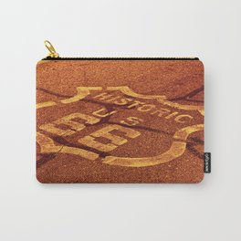 Historic route 66 in the Mojave desert. Carry-All Pouch