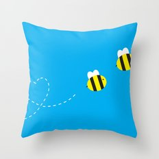 Bee in Love Throw Pillow