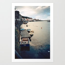 Whitby Row Boats Art Print