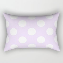 Geometric Orbital Circles In Pale Delicate Summer Fresh Lilac with White Dots Rectangular Pillow