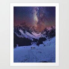 Walking under the Stars Art Print