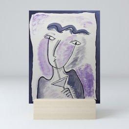 Martini Time #Painting #Sketchy Mini Art Print