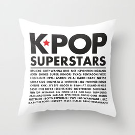 KPOP Superstars Original Boy Groups Merchandse Throw Pillow