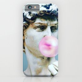 The Statue of David (Michelangelo) with Bubblegum iPhone Case