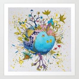 the swamp planet Art Print