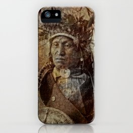 Assiniboine Chief iPhone Case