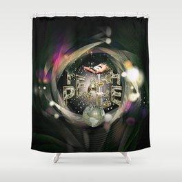 Teach Peace on Earth Shower Curtain