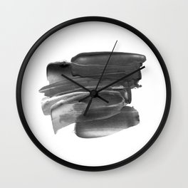 Lipstick Smudge black and white abstract painting poster design home wall art bedroom decor Wall Clock