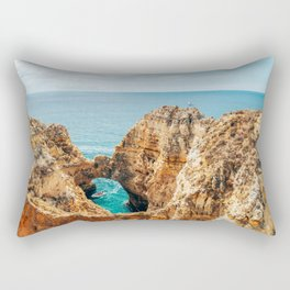 Ocean Landscape, Rocks And Cliffs, Lagos Bay Coast, Algarve Portugal,Wall Art, Poster Decor Rectangular Pillow