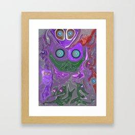 Born To The Purple Framed Art Print