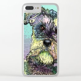 Schnauzer dog. Clear iPhone Case