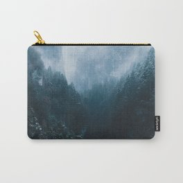 Foggy Forest Mountain Valley - Landscape Photography Carry-All Pouch