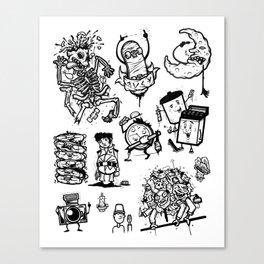 Random Drawings Canvas Print