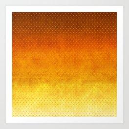 """Sabana Sunset Degraded Polka Dots"" Art Print"