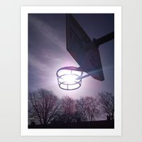 basketball Art Prints featuring Basketball by Peter Dunne