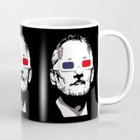 murray Mugs featuring Bill Murray 3D by Spyck