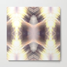Abstract Feathered Print Metal Print