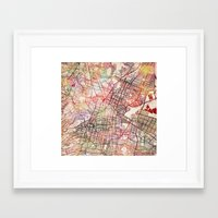 mexico Framed Art Prints featuring Mexico by MapMapMaps.Watercolors