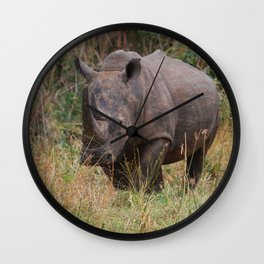 Wild Rhino Wall Clock