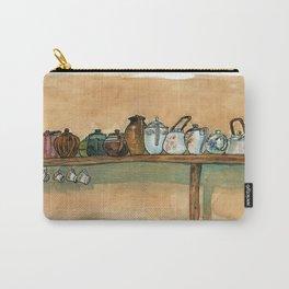 tea pots on the shelf Carry-All Pouch