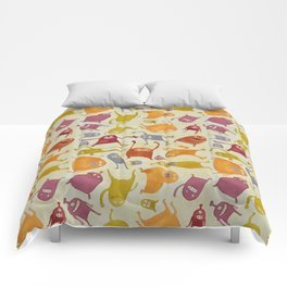 Watercolor Critter Pattern Alpha Comforters