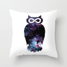 Super Cosmic Owlfinity Throw Pillow