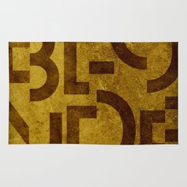 Blonde Beer Typography Rug