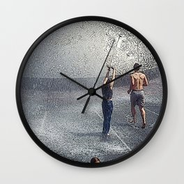 Fountain Folks Wall Clock