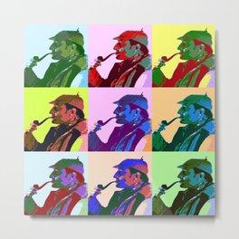 Sherlock Holmes Pop Art Metal Print