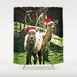 Tis The Season - Reindeer Shower Curtain
