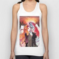 tigers Tank Tops featuring DUELING TIGERS by ArtBattles