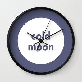 Cold Moon Wall Clock