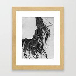 Hair in Profile Framed Art Print