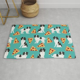 Japanese Chin cheery pizza slice junk food funny cute gifts for dog lover pet friendly pet protraits Rug