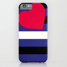 Leather, Latex and BDSM Pride Flag iPhone Case