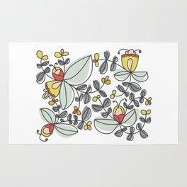 Watercolor Floral Rug