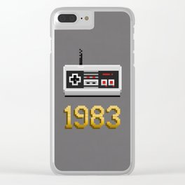 1983 [Pixel Art] Clear iPhone Case