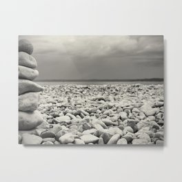 Leave nothing, but your footprints series - VII.- Metal Print