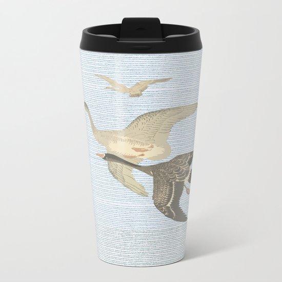 Nothing to match the flight of wild birds flying Metal Travel Mug