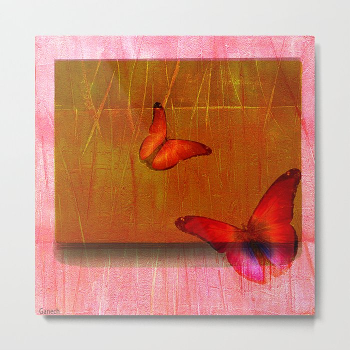 The butterflies of the day sunrise Metal Print