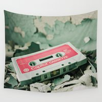 old school Wall Tapestries featuring Old School  by Riot Jane