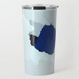 White African Daisy Large Brush Strokes Design  Travel Mug