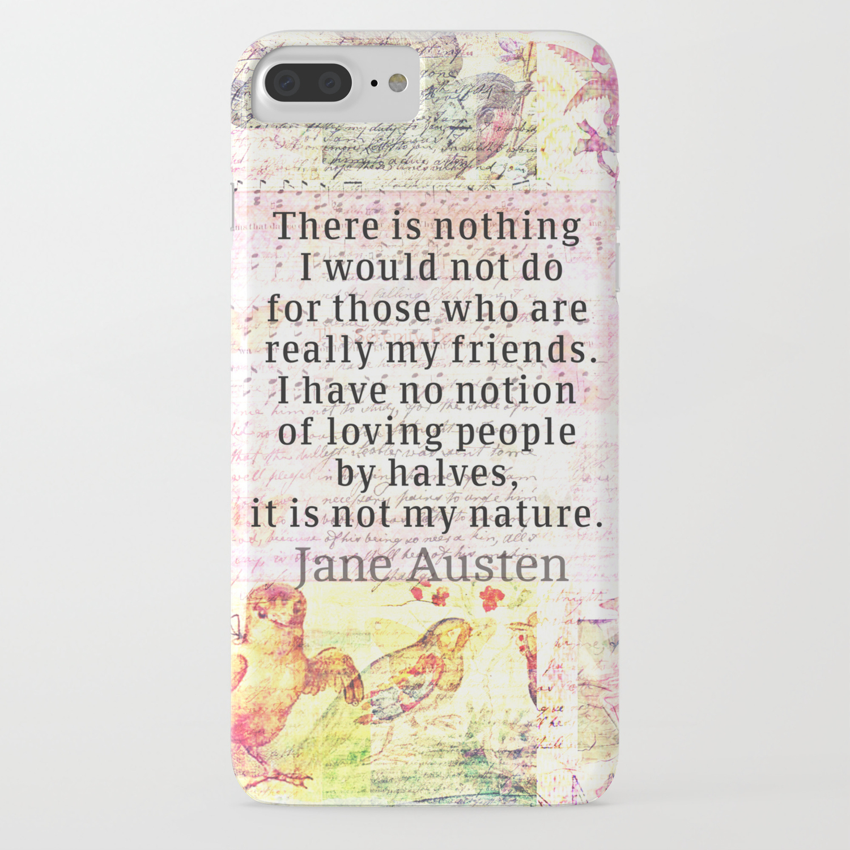 jane austen iphone 8 case