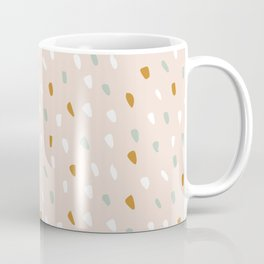 Abstract, Spotted Pattern, Pink and Terracotta, Boho Art Coffee Mug