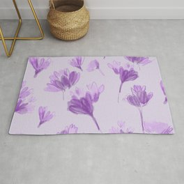 Purple Crocus Rug